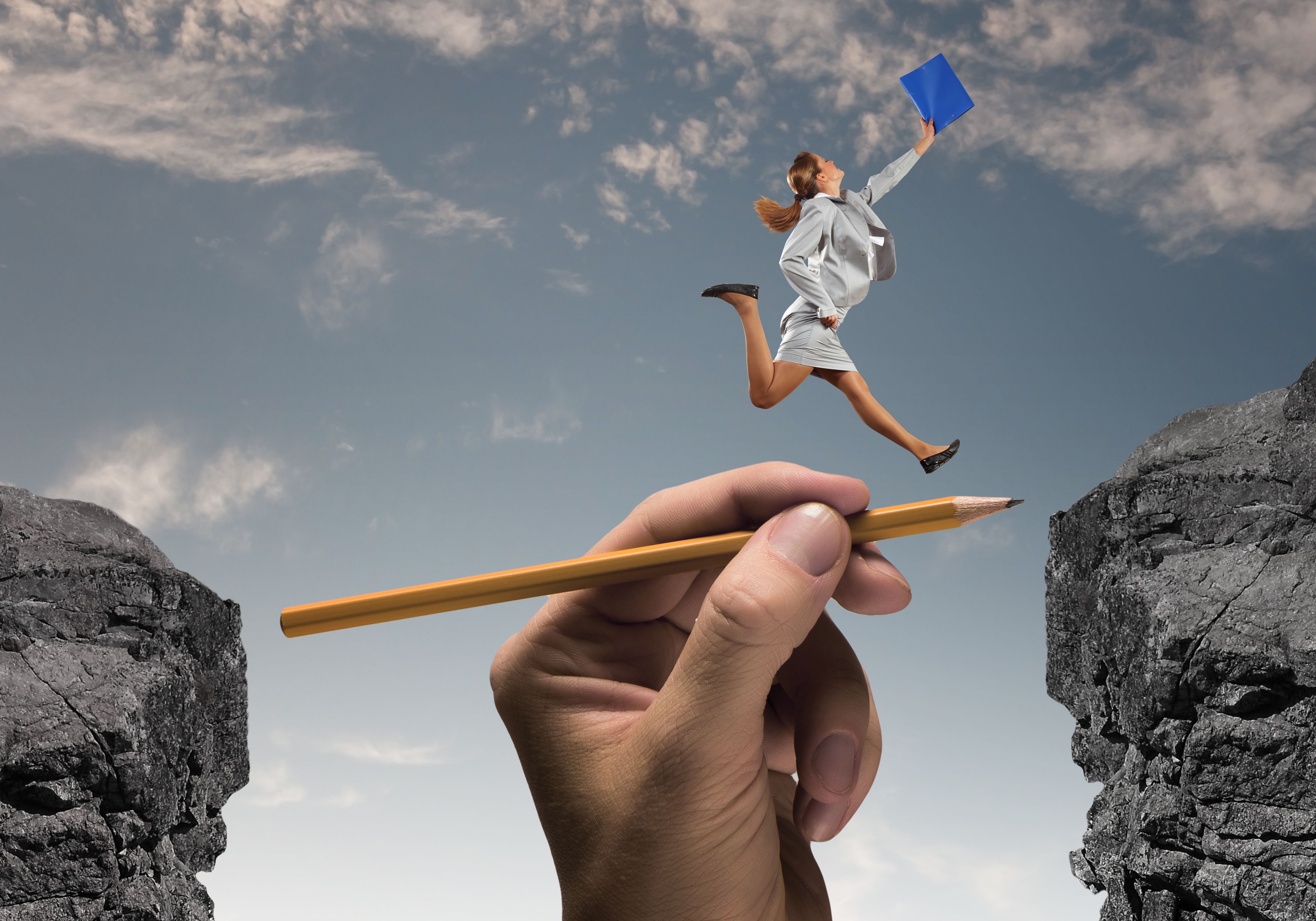 Overcoming obstacles woman